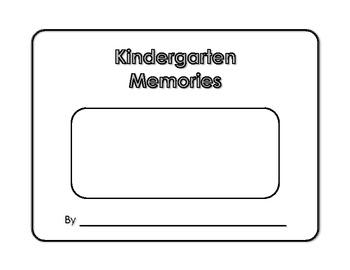 Memory Book - Kindergarten Memories - Yearbook - Scrapbook