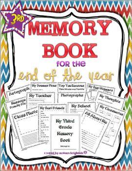 End of Year - Memory Book: Third Grade
