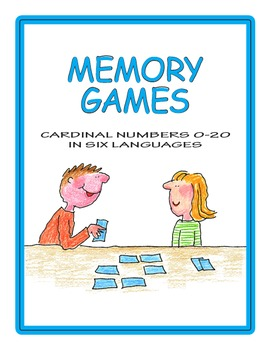 Numbers 0-20 and Names Memory Game