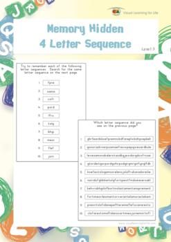 Memory Hidden 4 Letter Sequence