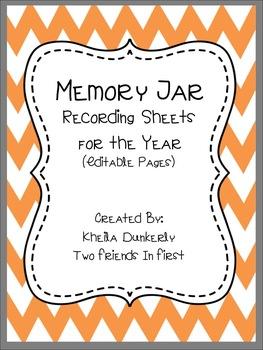 Memory Jar Recording Sheets