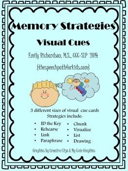 Memory Strategies & Visual Cues {freebie}