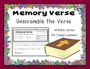 Bible Memory Verses - Unscramble the Verse: An Activity fo