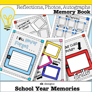 Memory Book: End of the Year Technology Theme