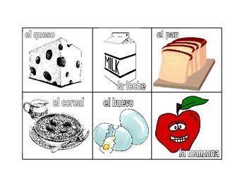 Memory: food items
