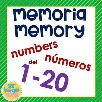 Memory game 1-20    Memoria numeros 1-20