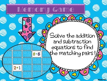 Memory game - Addition and subtraction