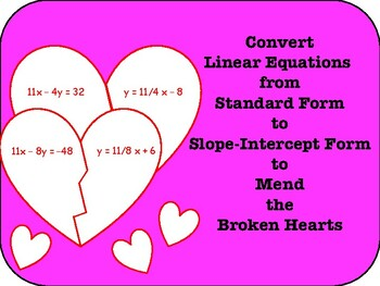 Mending Broken Hearts: Linear Equations Style