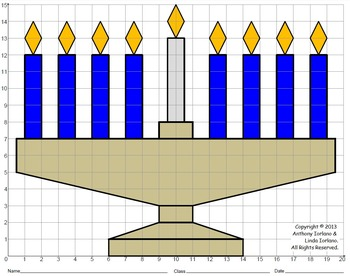 Menorah, Chanukah, Coordinate Graphing, Coordinate Drawing