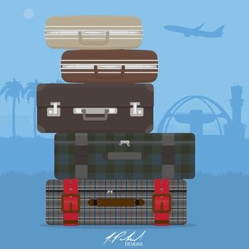 Men's Luggage Clip Art - Baggage Clip Art - Suitcase Clip