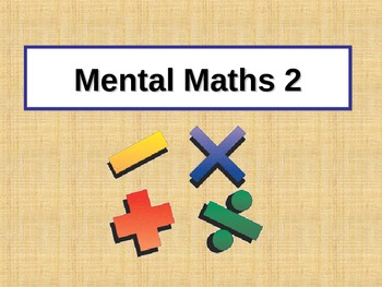 Mental Computation PowerPoint 2 for Grades 3-4
