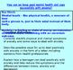 Mental Health 'Keeping good mental health 3 - Anxiety ' (1