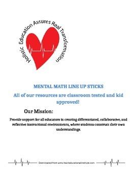 Mental Math Line Up Sticks