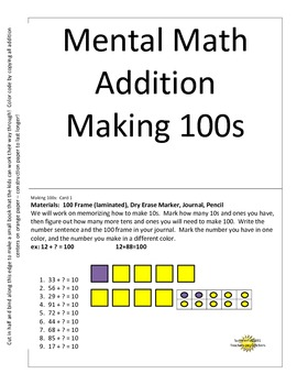 Mental Math Making 100