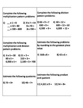 Mental Math Review