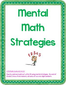 Mental Math Strategies -- Common Core -- 2.OA.B.2