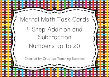 Mental Math Task Cards - 4 Step Addition and Subtraction -