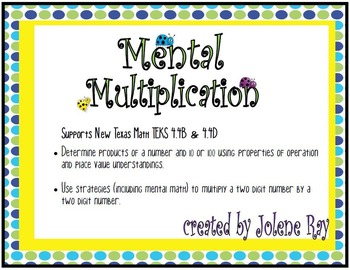 Mental Multiplication with Multiples of 10 and 100: New TX