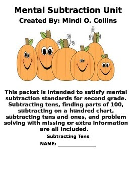Mental Subtraction Unit for Second Grade (With a Fall Theme!)