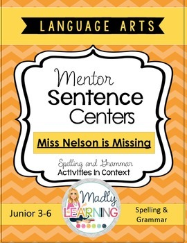Mentor Sentence Centers:Word Work in Context - Miss Nelson