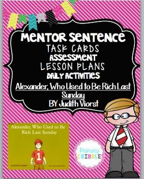 Mentor Sentence Pack 4 Assessment, Daily Work, Task Cards,