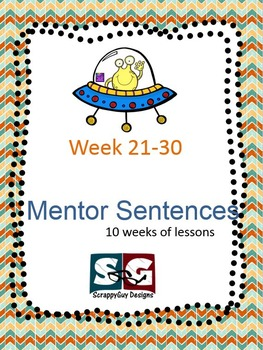 Mentor Sentence Packet - Set 03 - 10 weeks of lessons with