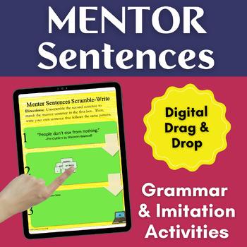Digital Writing Sentence Imitation Activites with Mentor S