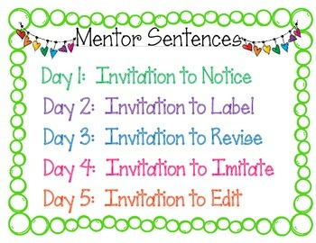 Mentor Sentences Invitation Sign
