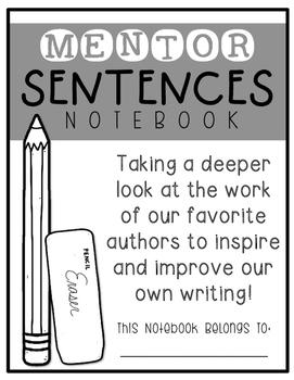 Mentor Sentences Notebook Freebie