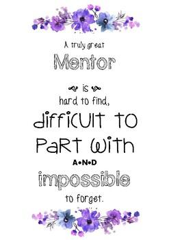 Mentor Teacher Appreciation Poster