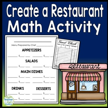 Menu - Create Your Own Restaurant with Blank Receipts - Menu Math