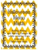 Menu Math (Halloween)