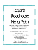 Menu Math for Logan's Roadhouse