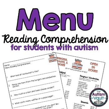 Menu Reading Comprehension