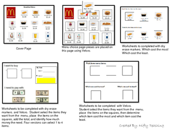 Menu Reading McDonald's