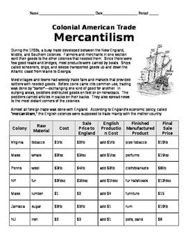 Mercantilism Interactive Handout