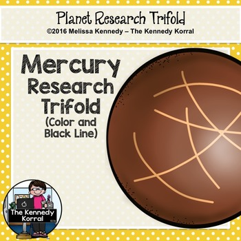 Mercury Research Trifold {Space Research, Planets, Solar System}