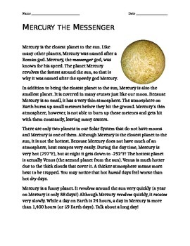 Mercury the Messenger