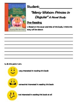 Mercy Watson: A Pig in Disguise Novel Study