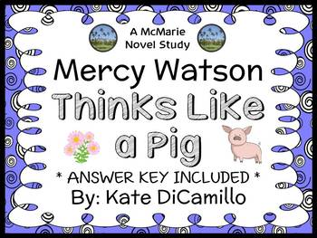 Mercy Watson Thinks Like a Pig (Kate DiCamillo) Novel Stud