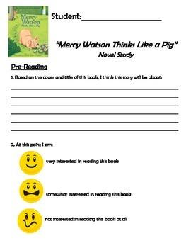 Mercy Watson Thinks Like a Pig - Novel Study - Primary - S