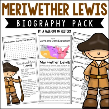 Meriwether Lewis Biography Pack (New World Explorers)