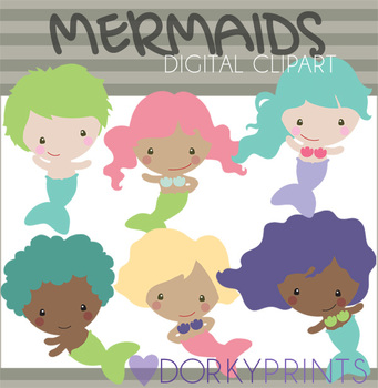 Mermaid Digital Clip Art
