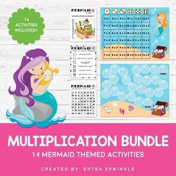 Mermaid Multiplication Mega Bundle