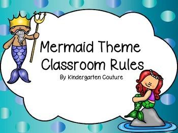 Mermaid Theme Classroom Rules