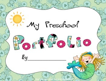 Mermaid Themed Preschool Portfolio