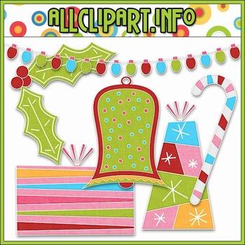 BUNDLED SET - Merry & Bright Accents Clip Art & Digital St