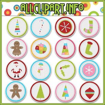 Merry & Bright Bottlecap Images