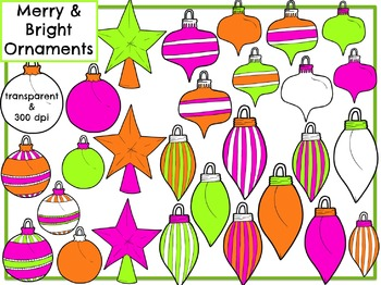 Merry & Bright Christmas Ornaments