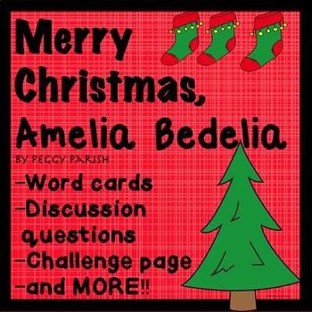 Amelia Bedelia Merry Christmas Novel Book Study No Prep Gu